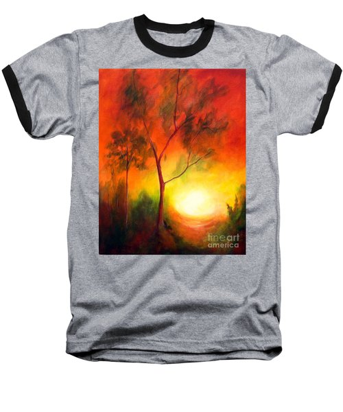 A New Day Baseball T-Shirt by Alison Caltrider