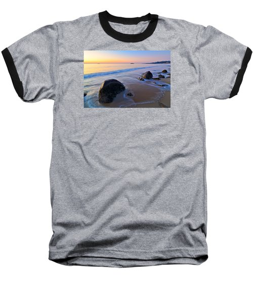 A New Day Singing Beach Baseball T-Shirt by Michael Hubley