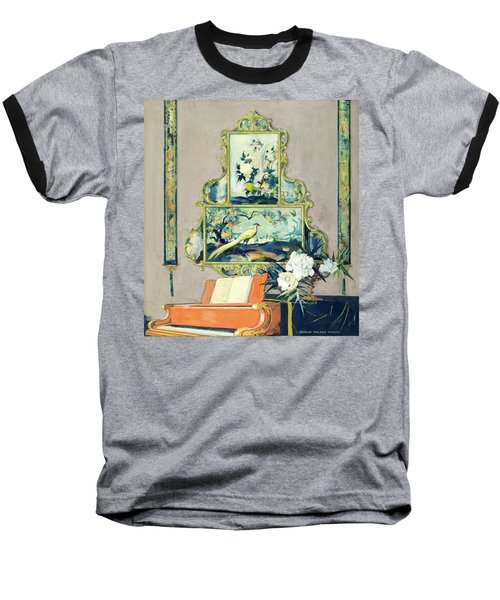 A Painting Of A House Interior Baseball T-Shirt