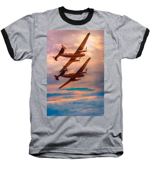 Baseball T-Shirt featuring the photograph A Pair Of Flamingos by Chris Lord