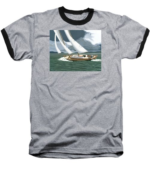 Baseball T-Shirt featuring the painting A Passing Squall by Gary Giacomelli