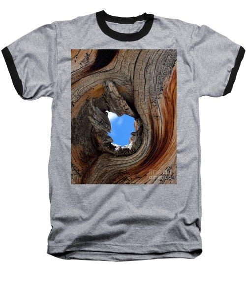 A Patch Of Blue Baseball T-Shirt by Jim Garrison