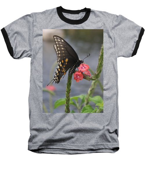 Baseball T-Shirt featuring the photograph A Pause In Flight by Judith Morris