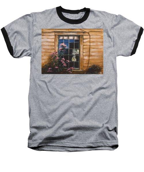 A Peek Through The Window Baseball T-Shirt