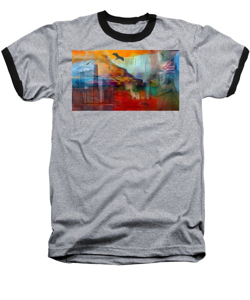 Baseball T-Shirt featuring the photograph A Piece Of America by Randi Grace Nilsberg