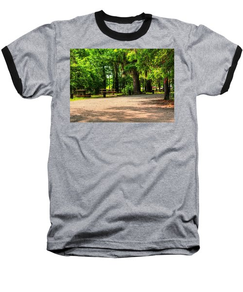 Baseball T-Shirt featuring the photograph A Place For Picnic by Ester  Rogers