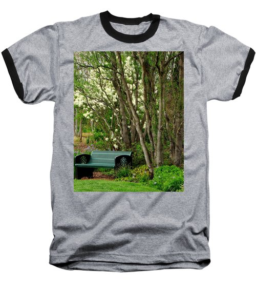 Baseball T-Shirt featuring the photograph A Place To Sit by Rodney Lee Williams