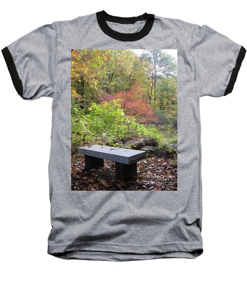 A Place To Think II Baseball T-Shirt by Barbara Bardzik