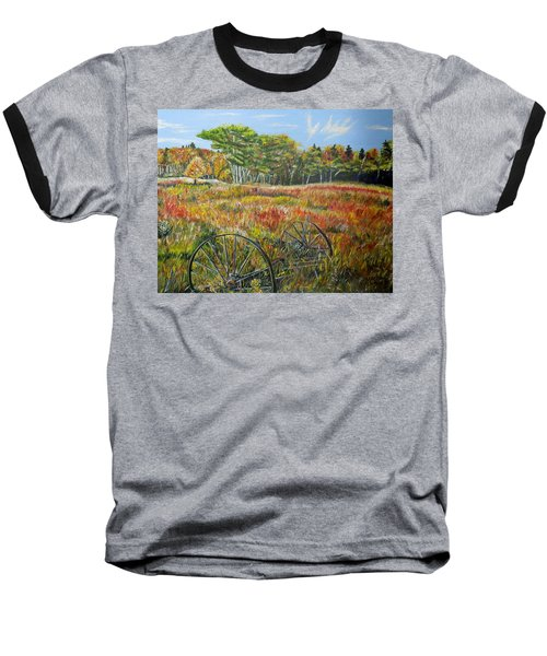 Baseball T-Shirt featuring the painting A Prairie Treasure by Marilyn  McNish