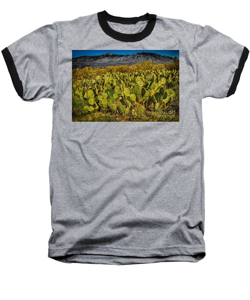 Baseball T-Shirt featuring the photograph A Prickly Pear View by Mark Myhaver