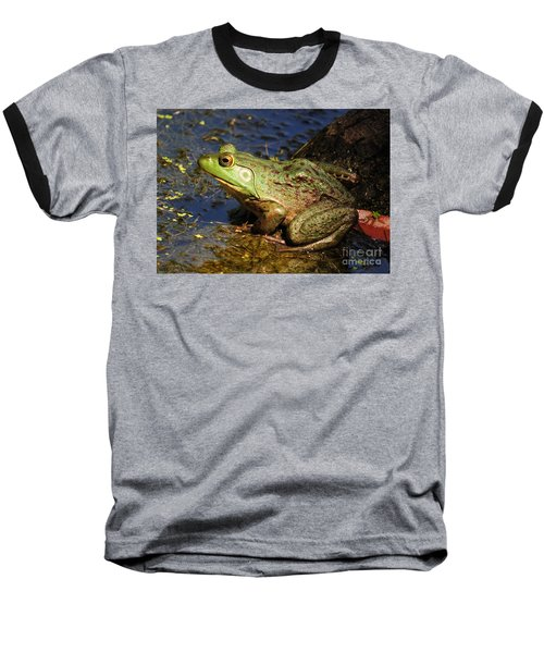 Baseball T-Shirt featuring the photograph A Prince Of A Frog by Kathy Baccari