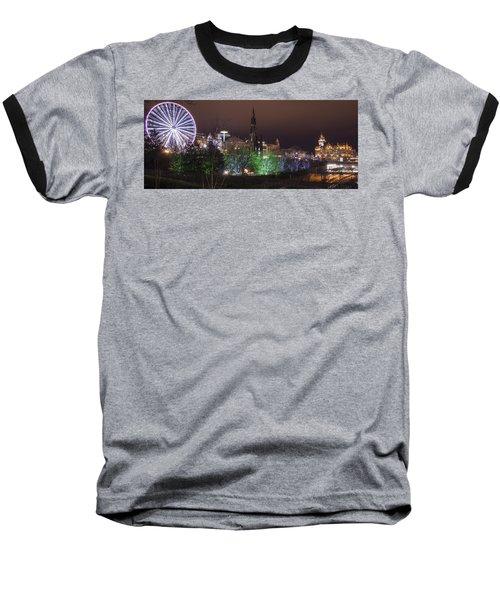 A Princes Street Gardens Christmas Baseball T-Shirt
