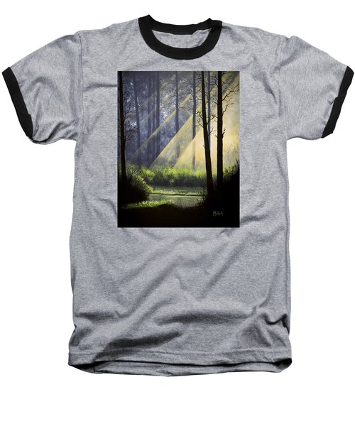 A Quiet Place Baseball T-Shirt by Jack Malloch