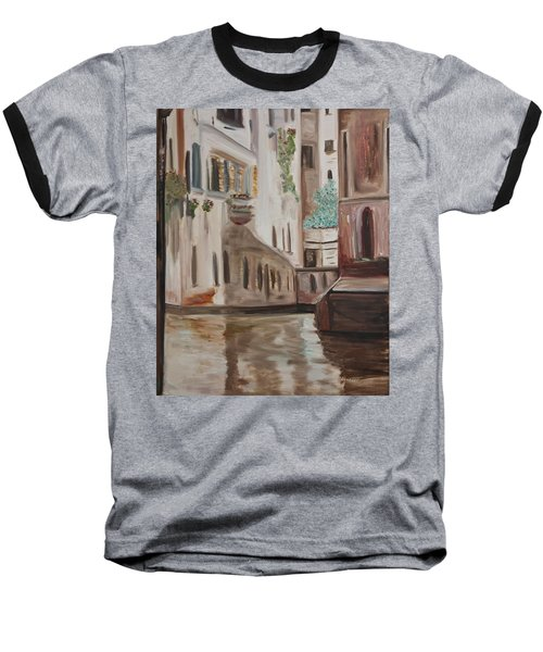 A Quiet Venice Canal Baseball T-Shirt