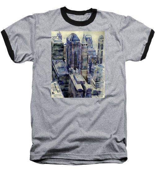 Rainy Day In Gotham Baseball T-Shirt