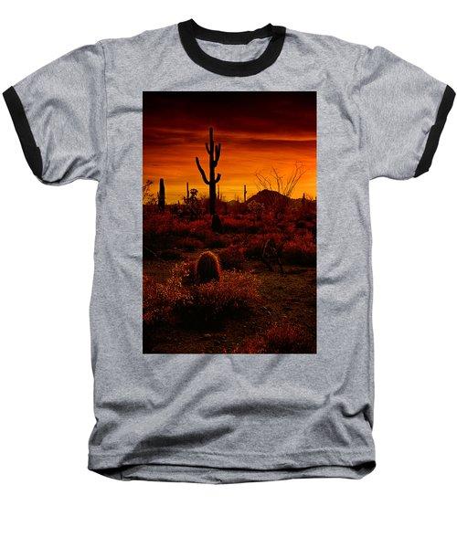 A Red Desert  Baseball T-Shirt