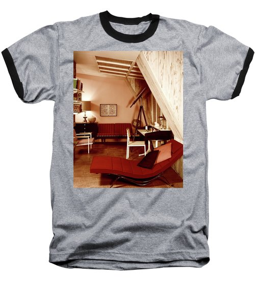 A Red Living Room Baseball T-Shirt