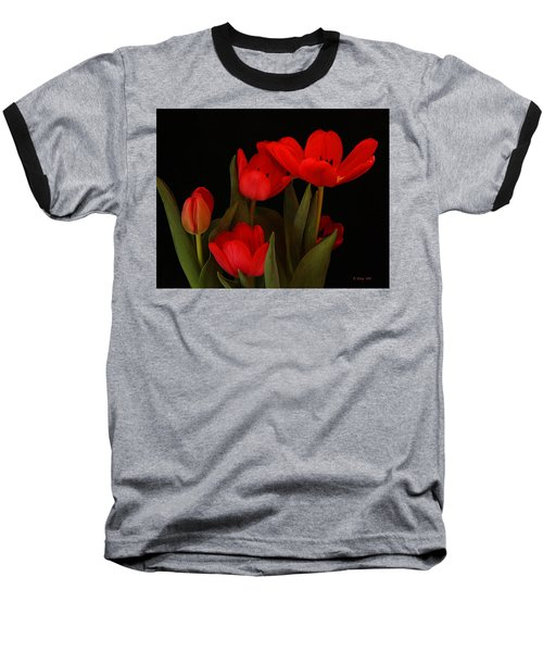 A Red Tulip Day Baseball T-Shirt