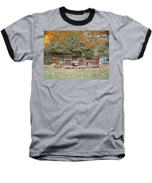 Relax For A Moment  Baseball T-Shirt by Brenda Brown