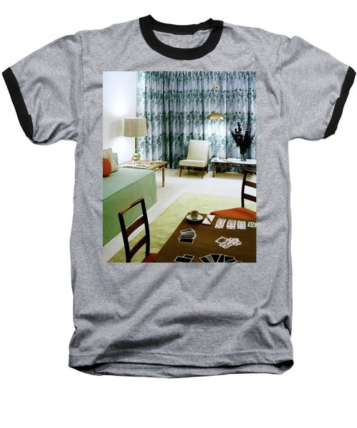 A Retro Bedroom Baseball T-Shirt