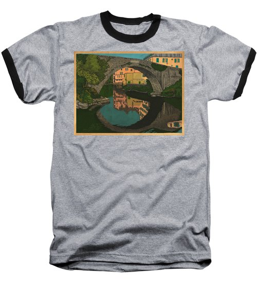 A River Baseball T-Shirt by Meg Shearer