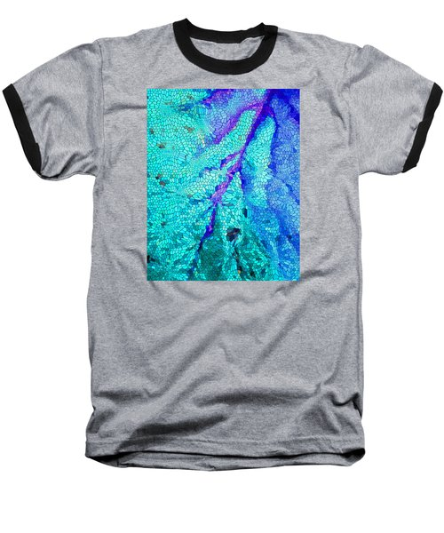 Baseball T-Shirt featuring the digital art A River Runs Through It by Mariarosa Rockefeller