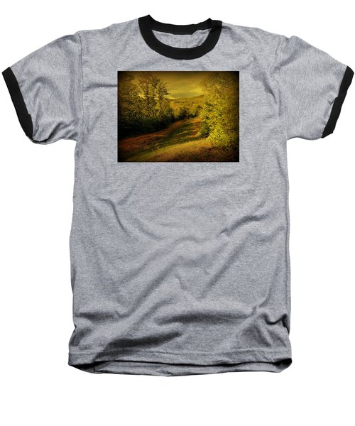 A Road Less Traveled Baseball T-Shirt by Mim White