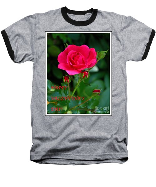 Baseball T-Shirt featuring the photograph A Rose For Valentine's Day by Mariarosa Rockefeller