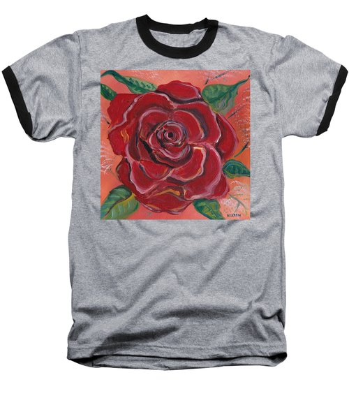 A Rose Is A Rose Baseball T-Shirt by John Keaton