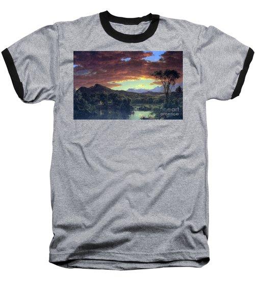 A Rural Home By Frederick Edwin Church Baseball T-Shirt