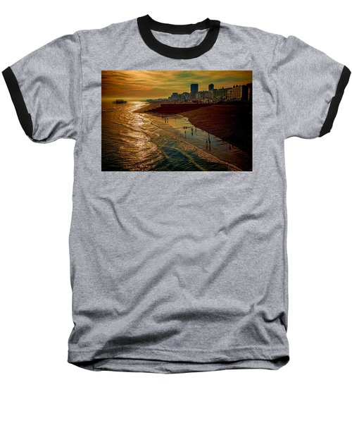 Baseball T-Shirt featuring the photograph A September Evening In Brighton by Chris Lord