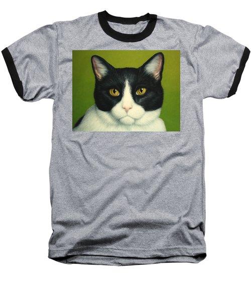 A Serious Cat Baseball T-Shirt