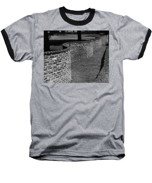 A Serpentine Brick Wall Baseball T-Shirt