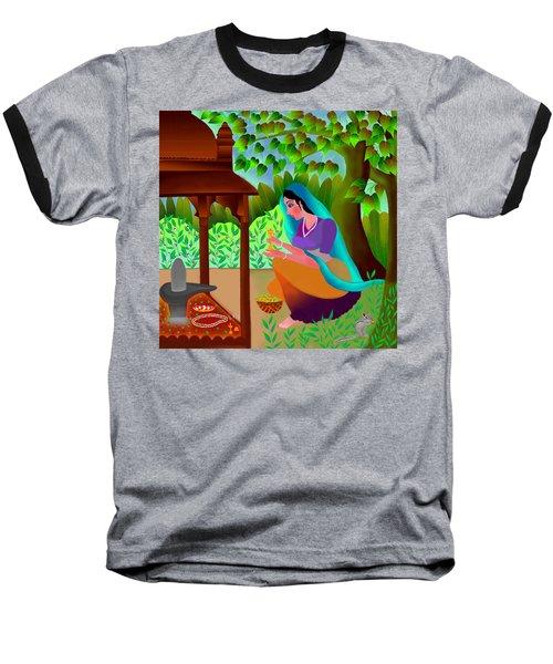 A Silent Prayer In Solitude Baseball T-Shirt by Latha Gokuldas Panicker