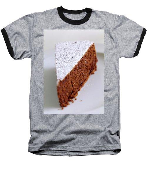 A Slice Of Chocolate Raspberry Ganache Cake Baseball T-Shirt