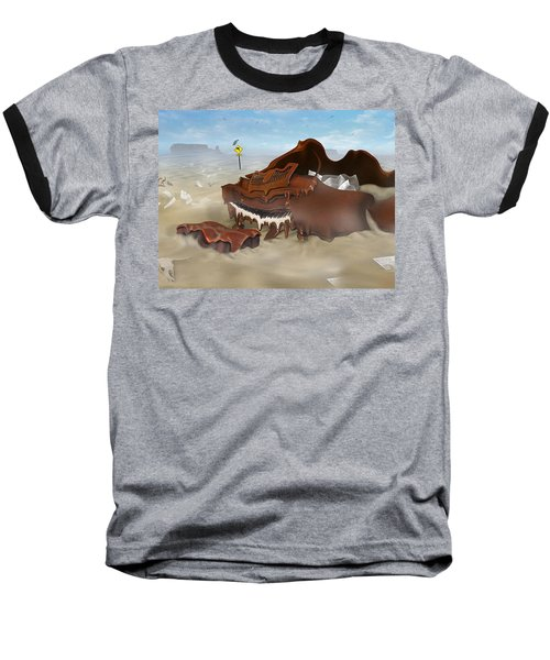 A Slow Death In Piano Valley - Panoramic Baseball T-Shirt