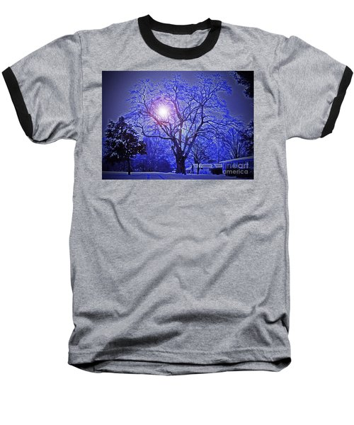 A Snow Glow Evening Baseball T-Shirt