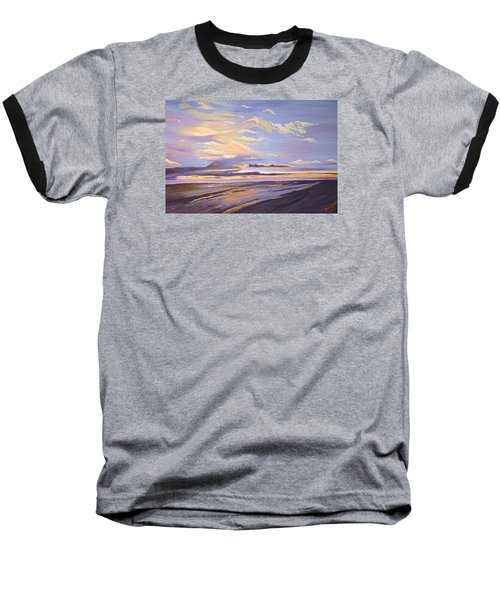 Baseball T-Shirt featuring the painting A South Facing Shore by Donna Blossom