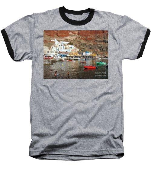 A Splash In Amoudi Bay  Baseball T-Shirt