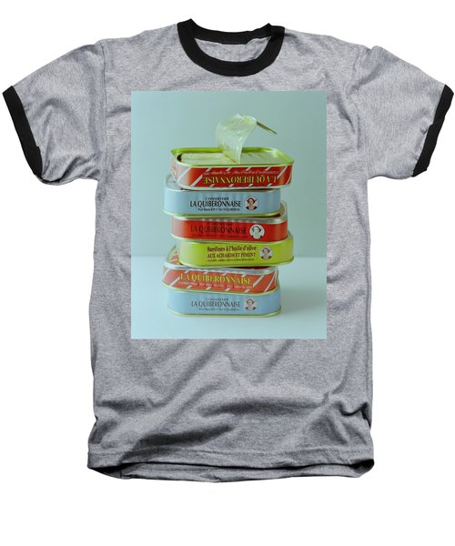 A Stack Of Cans Of Sardines Baseball T-Shirt
