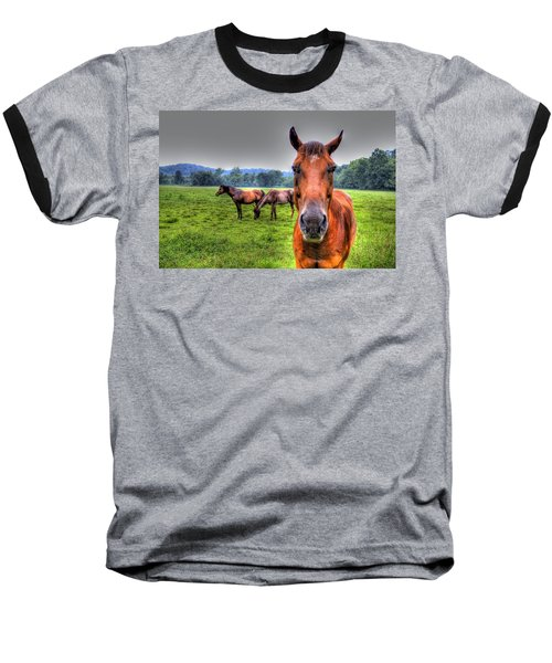 A Starring Horse Baseball T-Shirt