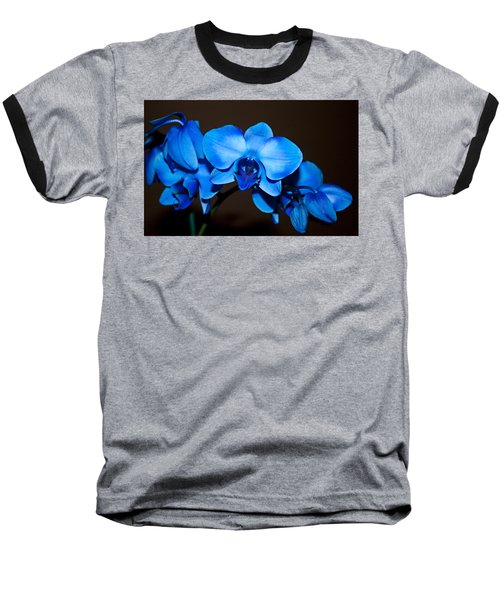 A Stem Of Beautiful Blue Orchids Baseball T-Shirt by Sherry Hallemeier