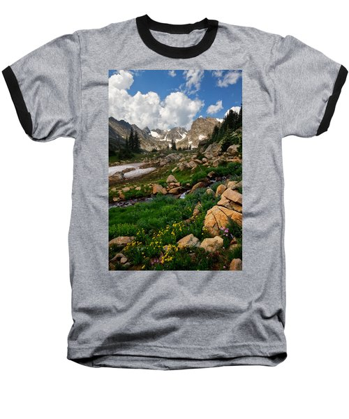 Baseball T-Shirt featuring the photograph A Stream Runs Through It by Ronda Kimbrow