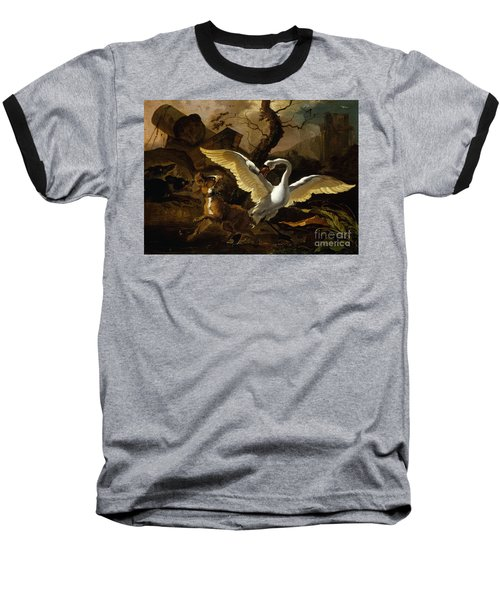 A Swan Enraged By Hondius Baseball T-Shirt