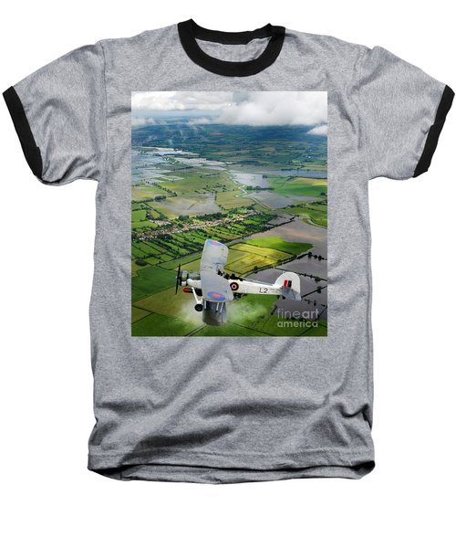 Baseball T-Shirt featuring the photograph A Swordfish Aircraft With The Royal Navy Historic Flight. by Paul Fearn