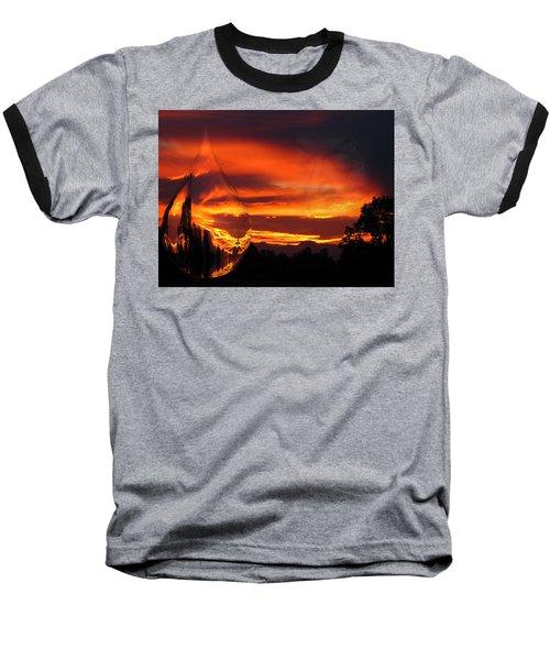 Baseball T-Shirt featuring the digital art A Teardrop In Time by Joyce Dickens