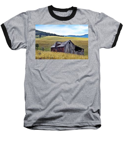 A Time In Montana Baseball T-Shirt by Susan Kinney