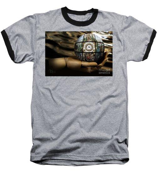 A Times Droplet Meditation Baseball T-Shirt by Rosa Cobos