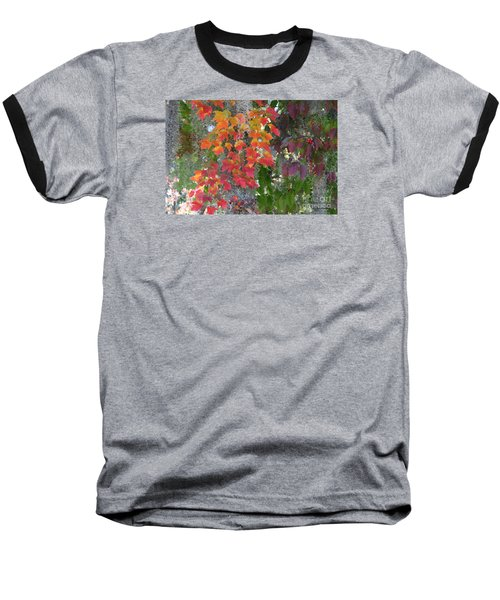 Baseball T-Shirt featuring the digital art A Touch Of Autumn by Mariarosa Rockefeller