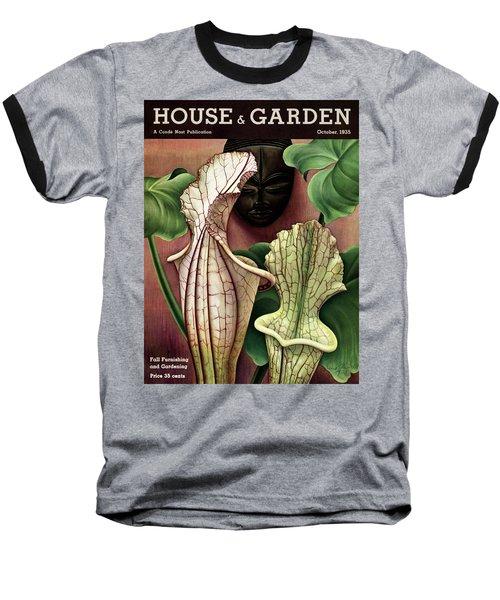 A Tropical Flower And An African Mask Baseball T-Shirt